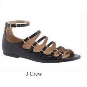 JCrew Sofia black buckle sandals Size 7 $228